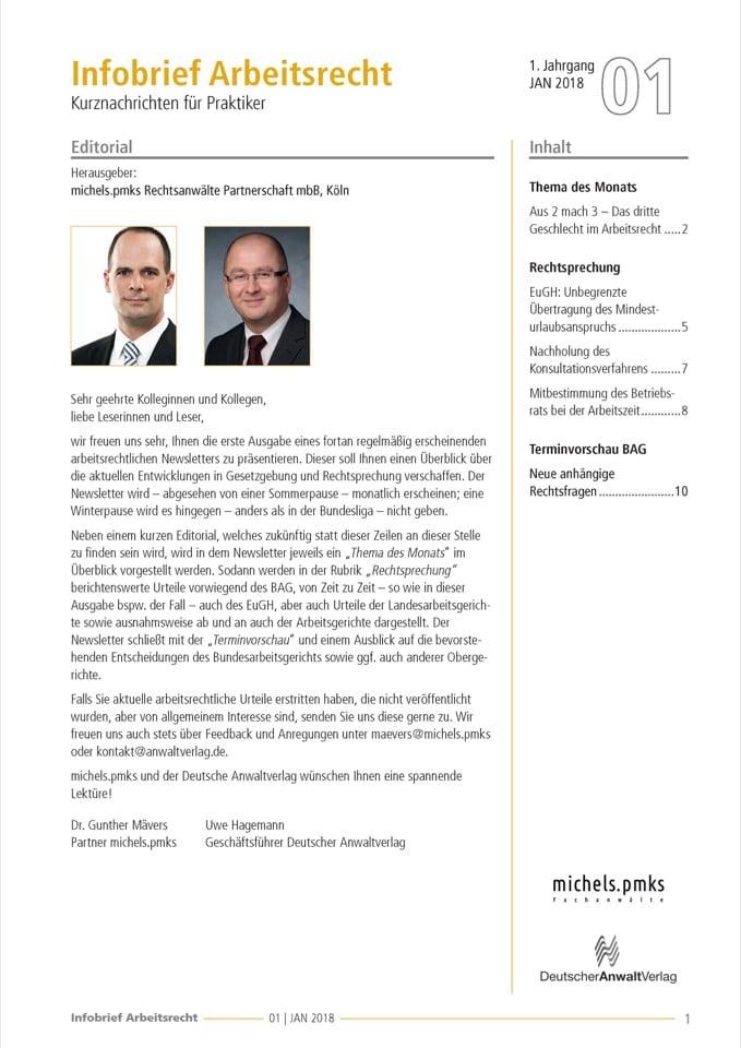 Infobrief Arbeitsrecht